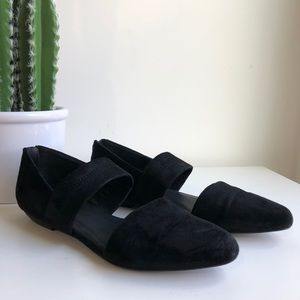 EILEEN FISHER | black suede flats 8 casual career